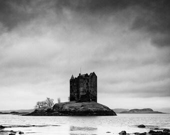 Scottish Castle Photograph, Loch Linnhe, Highlands, Scotland - Landscape Photography - 12 x 16 inch print
