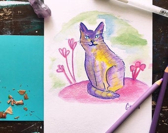 Kitten Watercolor Portrait