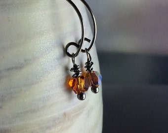 Simplicity Earrings Topaz Crystal