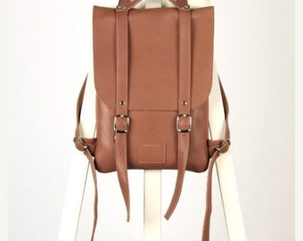SALE! / Saddle Brown leather backpack rucksack / In stock / Leather backpack / Leather rucksack / Womens backpack / Gift