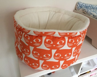 Deep luxury pet bed, cat bed,  dog bed, hand made