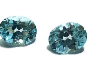 lot of 3 Pcs (1 Pair) Swiss Blue topaz Oval shape 7*9 mm good quality cut stone, Loose gem,stone