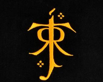 Tolkien symbol 4x4 machine embroidery design
