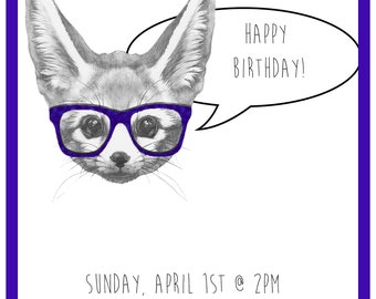 What does the fox say PRINTABLE birthday invite