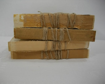 Unbound Books / Rustic Vintage Unbound Books Wrapped in Twine / Rustic Decor Uncovered Books / Farmhouse Decor / Urban