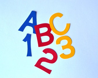 Paper Letters - Any Color and Size - Paper Alphabet - Alphabet Die Cuts - Letter Die Cuts - Number Die Cuts - Paper Numbers