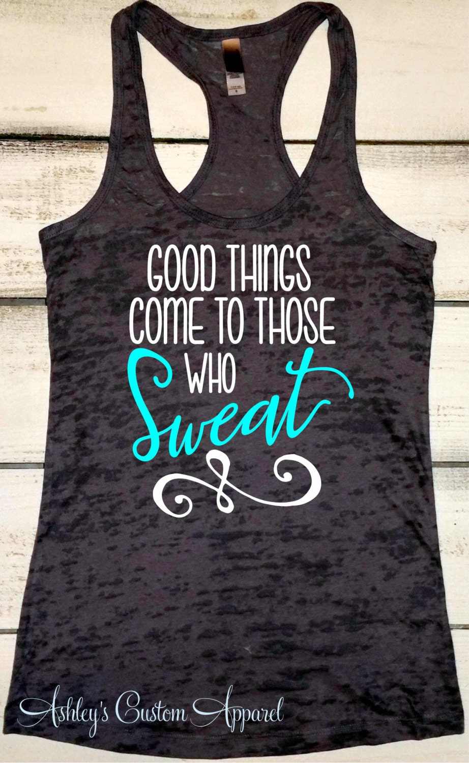 Fitness Tank Womens Workout Tank Top Good Things Come To