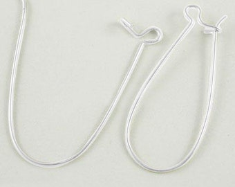 Silver Kidney Hooks made from Brass, Nickel, Lead and Cadmium Free - 33mm Long, 14mm wide