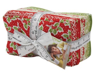 Christmas Figs by Fig Tree & Co. - Factory Precut - Fat eighth bundle - SAMPLE SPREE PRECUT