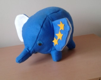 Soft lovable blue elephant
