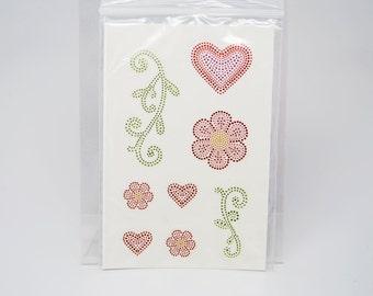 SALE DESTASH Close To My Heart Stickers -- Textured Stickers Heart Flower