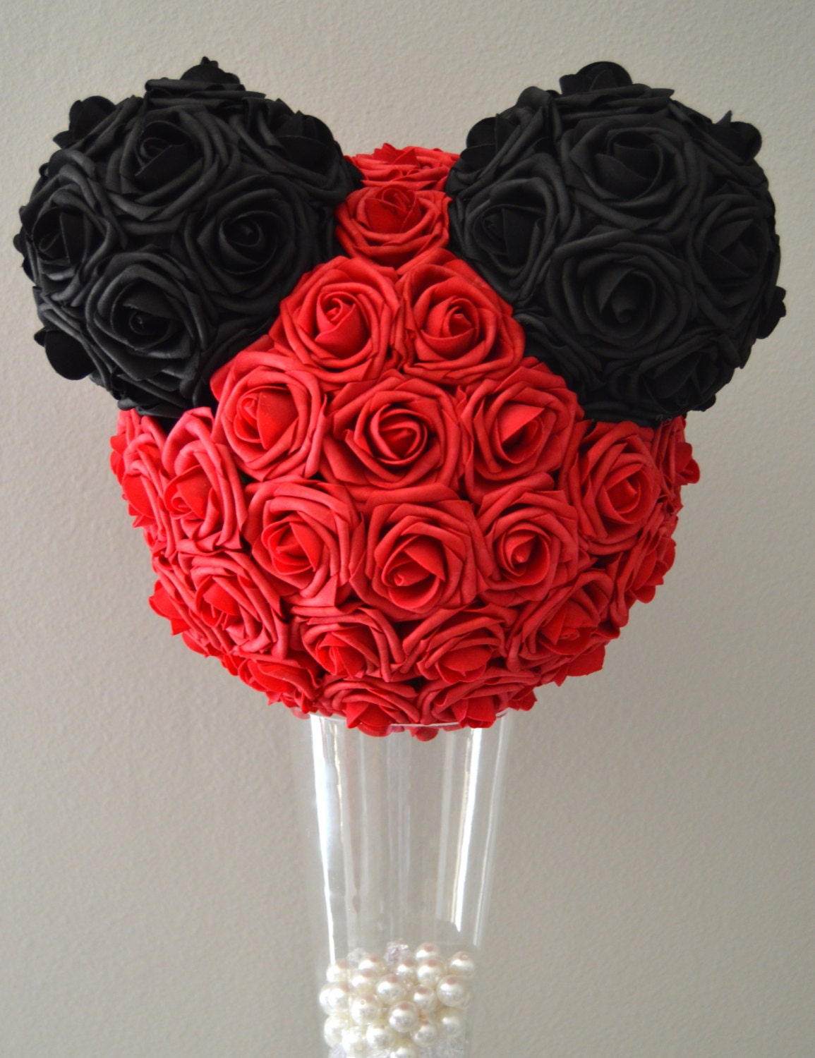 Lovely Mickey Kissing Ball. Mickey Wedding. Red And Black Mickey AI12