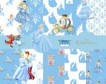 Digital paper Kit Cinderella Party/Cinderella Digital Papers Clipart