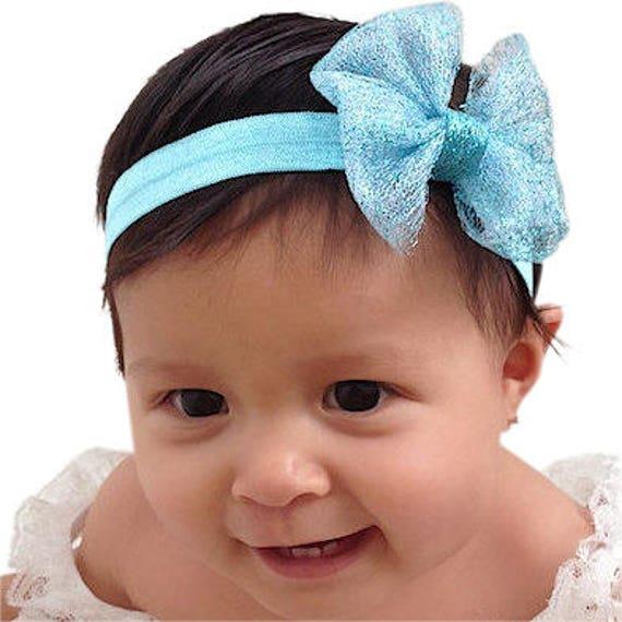 Baby Headband, Bow Headband, Blue Headband, Baby Girl Headband, Newborn Headband, Infant Headband, Headband, baby bows, Toddler Headband