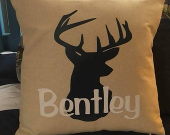Personalized Deer Head Pillow