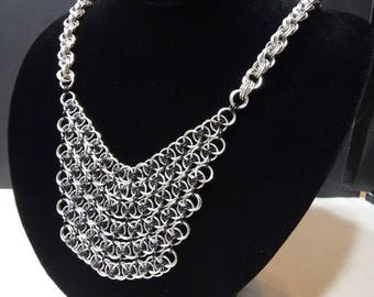Parallel Helm Bib Necklace