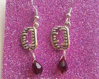 Vamp earrings. Earrings Hook, Blood, Vampire, Dracula