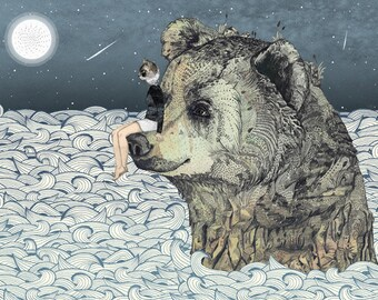 Bear Rock  // Signed A3 print