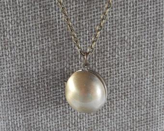 Sphere Necklace, Round Locket, Working Locket, Gift for Her
