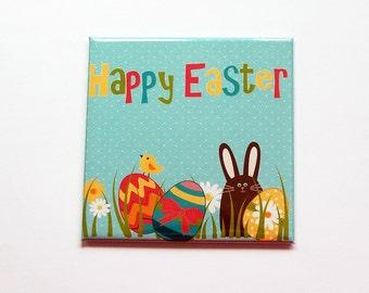 Easter Magnet, Easter Egg Magnet, Easter Bunny, Magnet, Fridge magnet, Easter Eggs, Easter magnet, Easter basket gift, Easter gift (7394)