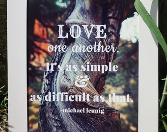 Love One Another Home Decor Wall Hanging 8x10 Premium Photo Print