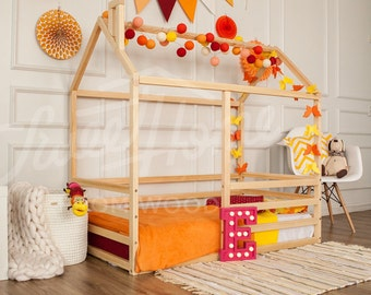 Wood bed house frame bed baby bed nursery crib Kids teepee Children bed Toddler bed Children furniture Montessori bed SweetHomefromwood