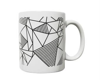 Graphic mug black and white - Konstellation