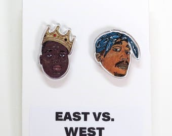 East vs. West Acrylic Stud Earrings