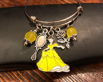 Beauty and the Beast Jewelry - Belle bangle bracelet - Child or adult Stainless steel