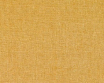 Solid Gold Upholstery Fabric by the Yard - Custom Gold Decorator Pillow Covers with Piping - Gold Home Decor - Heavyweight Furniture Fabric