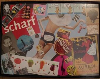 SCHARF - original collage art, framed