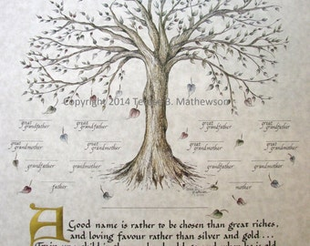 FAMILY TREE, FIVE Generations Personalized