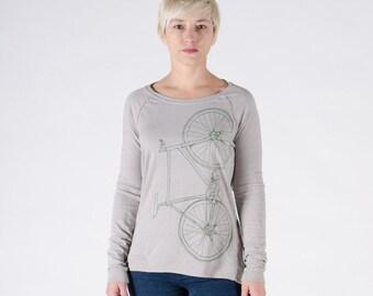 FIXIE SHIRT XLARGE Women's Fixie Long Sleeve Pullover Dove Grey- xl
