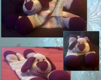 Hand knitted Dog Pyjama Case