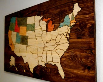 US Map | USA map to show travel | travel gifts | travel log | color USA map | travel map | gifts for travelers | color in travel map