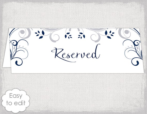 reserved sign template word