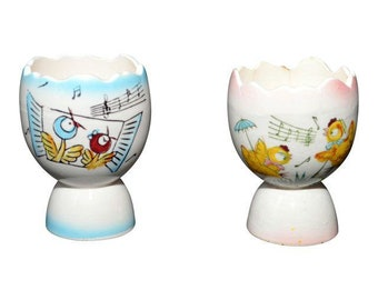 Vintage Ceramic Egg Cups - A Pair