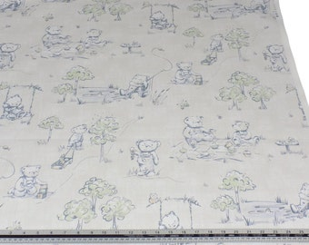 Teddy Bears Picnic 100% Cotton High Quality Fabric Material *2 Sizes*