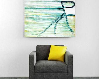 Bike art, Speed, original abstract painting, bicycle art, modern interior decor, modern wall art, bike painting, modern contemporary art,