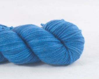 My Blue Heaven - Medium Blue Merino DK  Superwash Yarn Hand Dyed