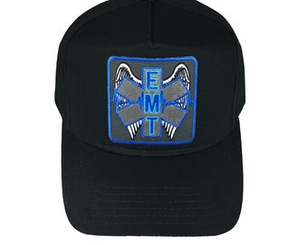 EMT Emergency Medical Technician with Angel Wings Hat Cap