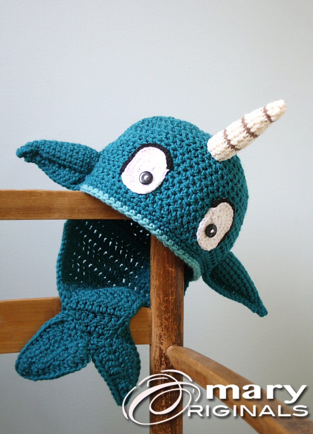 Narwhal Hat Crochet Beanie Whale Fish Winter Hat