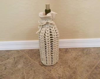 Hand crocheted wine bottle cover