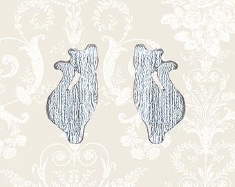 Sterling silver cat earrings | animal earrings | silver cat earrings | silver earrings | cat jewelry | cat studs | cat jewellery