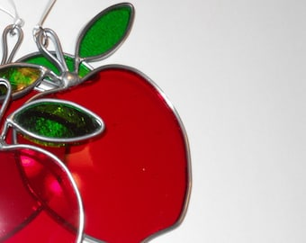 Red Apple Suncatcher