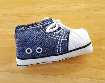 Blue Sneaker Catnip Toy, Denim Handmade Cat Toys, Cat Gift, Cat Lover Gift, Cat Toy, Catnip Toy, Catnip Cat Toys, Cat Toys, Unique Cat Toys