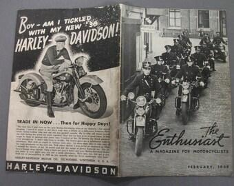 February   1939  Harley Davidson Enthusiast Magazine
