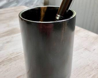 Ebony Gabon Pencil Cup