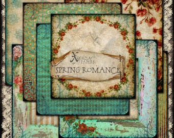 Digital Papers, Spring Romance, printable, Scrapbooking, Digiscrap,