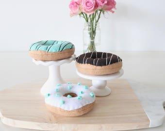 Felt Doughnut - Felt Play Food - Felt Play Doughnut - Felt Food - Pretend Doughnut - Pretend Food - Play Food - Felt Donut - Pink Doughnut